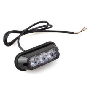 Hazard Warning LED Lamp : AMBER : 17 Flash Patterns : 12:24v